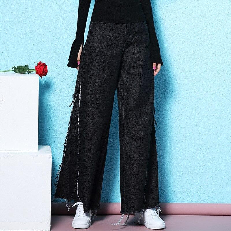 Noir Black Vents Jambe Feminino Large Femmes Nordiques Jean Printemps Gland 2019 Nw18c2862 Lâche Jeans Nouveauté Femme wqPrT0Zwx