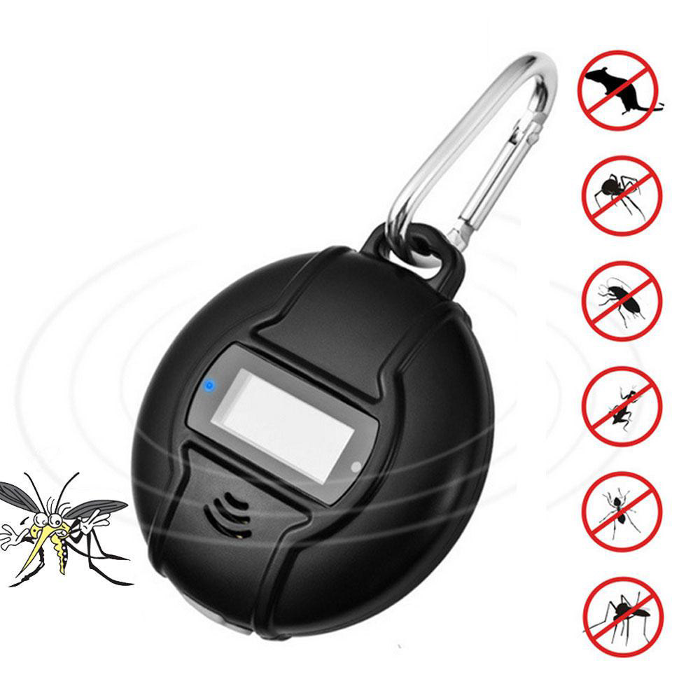 Outdoor Portable font b Electronic b font Mosquito Repeller With Hook Pest Repeller Solar USB Ultrasonic