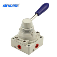 4HV210 Pneumatic three position four way hand operated valve 4HV230 08 manual switch hand operated reversing man control valve