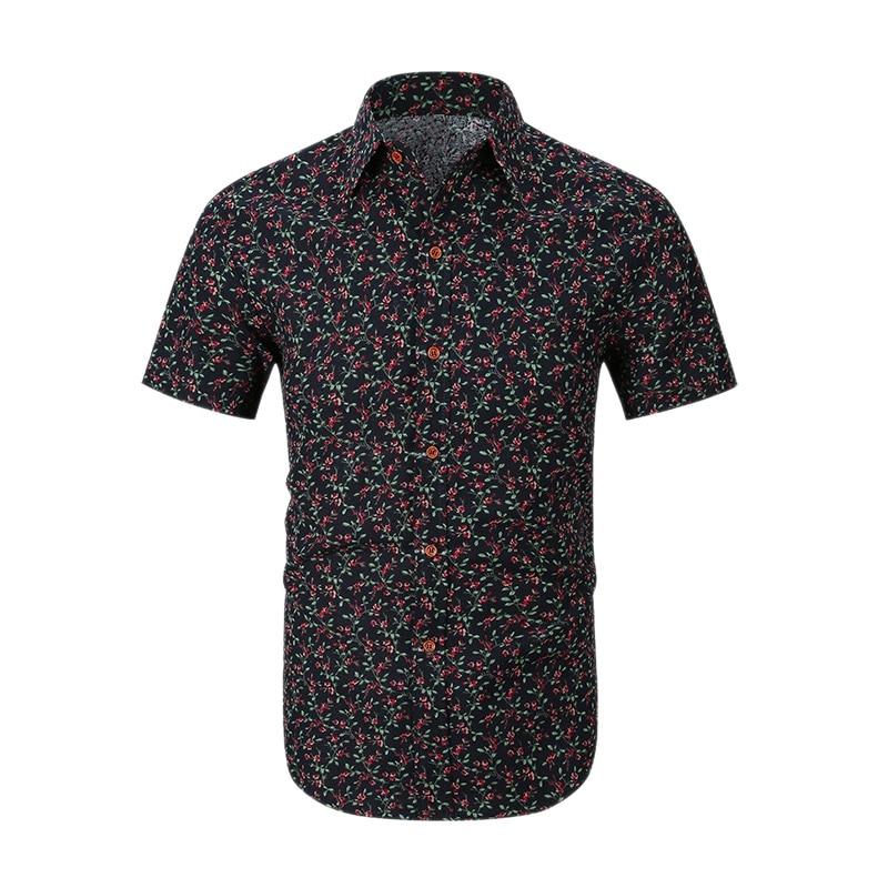 Hemden Mode Männer Print Floral Hawaiian Shirts Herren Tropical Sommer Kurzarm Taste Unten Casual Hemd Urlaub Partei Camisa Festsetzung Der Preise Nach ProduktqualitäT