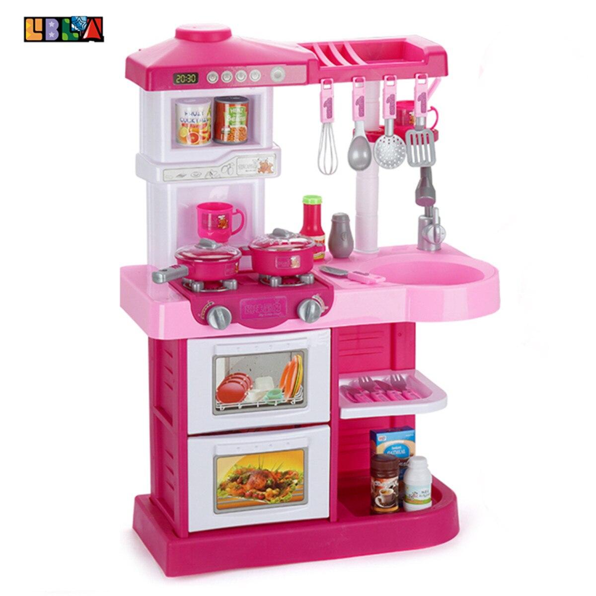 LBLA 35 pièces Enfants maison de jeu Jouer à Faire Semblant services de table Jouets Cuisine Cuisine Simulation Miniature jouets de cuisine Pour Enfants Cadeaux