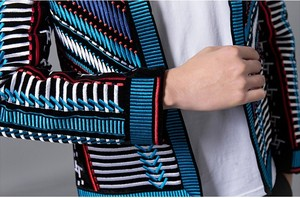 Image 5 - Colorful Embroidery Suit Blazer Masculino Men Blazer Hombre Stage Party Club Designer Slim Jacket Men DJ Host Mens Blazer Jacket