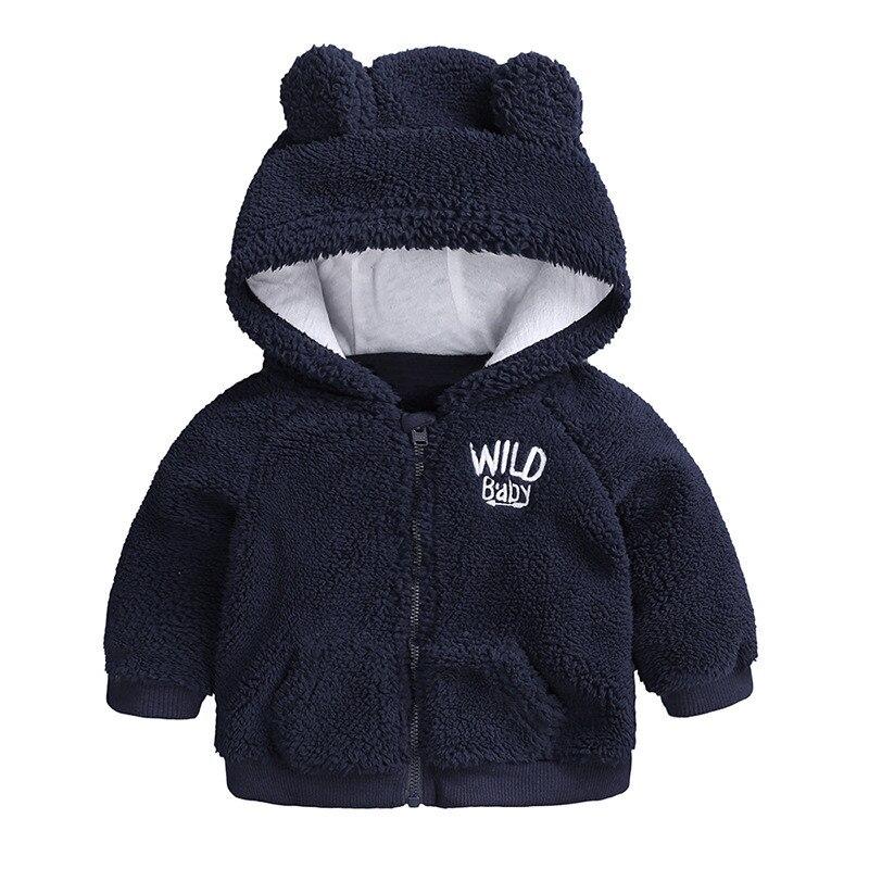 Baby Boy Girl Clothes Long Sleeve Cashmere Autumn Winter Jacke Plus Velvet Kids Snow Wear Letter Coat Hoodies Newborn Outwear in Snow Wear from Mother Kids