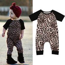 d98cb2987 Mode léopard bébé vêtements à manches courtes infantile garçon et fille  combinaison bébé barboteuses tenues enfant décontracté n.