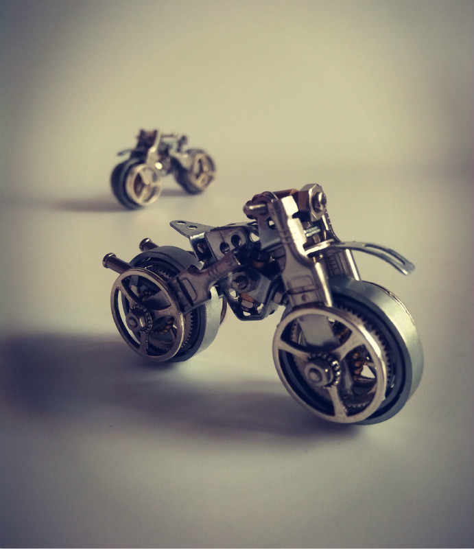 Motorcycle Assembly Model Kit Metal Steampunk DIY Toys Hobby Tools Creative Gift Meccano Free Shipping