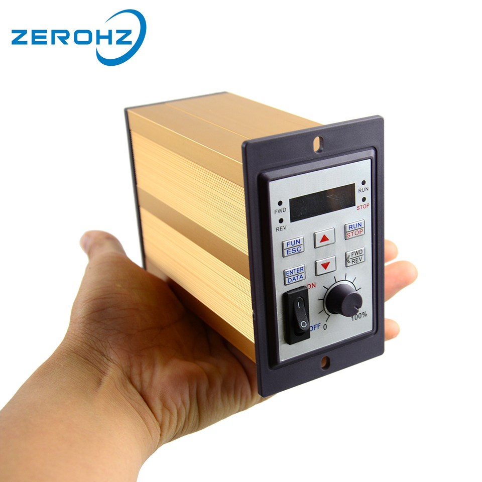 Frequency Inverter mini VFD 220V 200W 1 Phase Input And Three Output 50hz 60hz AC Drive