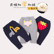 2018 new models girls Pants You Baby Cotton-padded Trousers Thickening Baby Male Girl Cotton-padded Trousers 2018 baby girls cotton padded outerwear