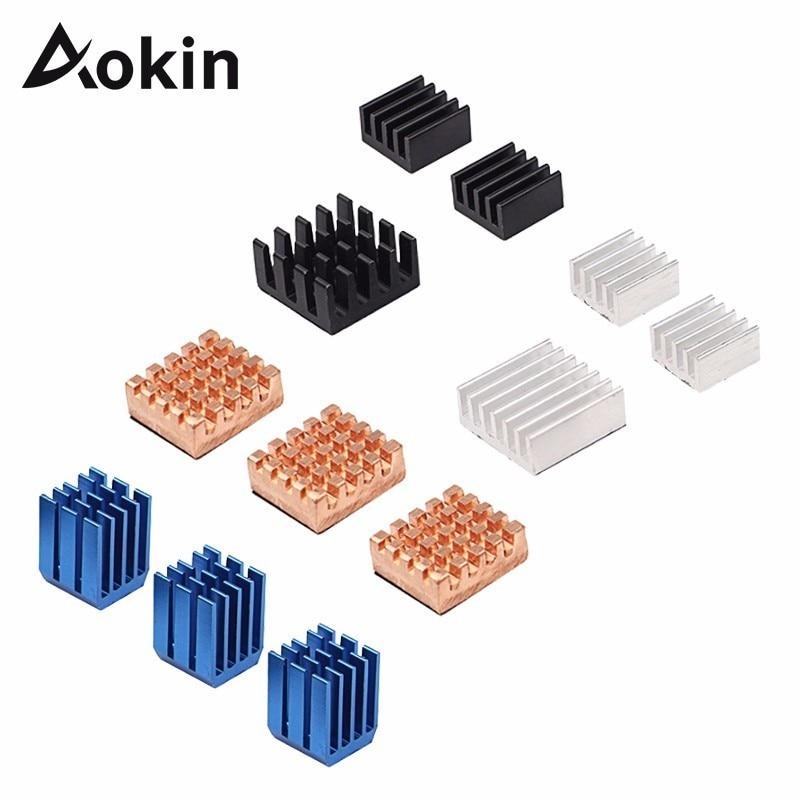 For Raspberry Pi 3 Model B//B Copper Aluminum Heatsinks Adhesive Cooler 12Pcs 9