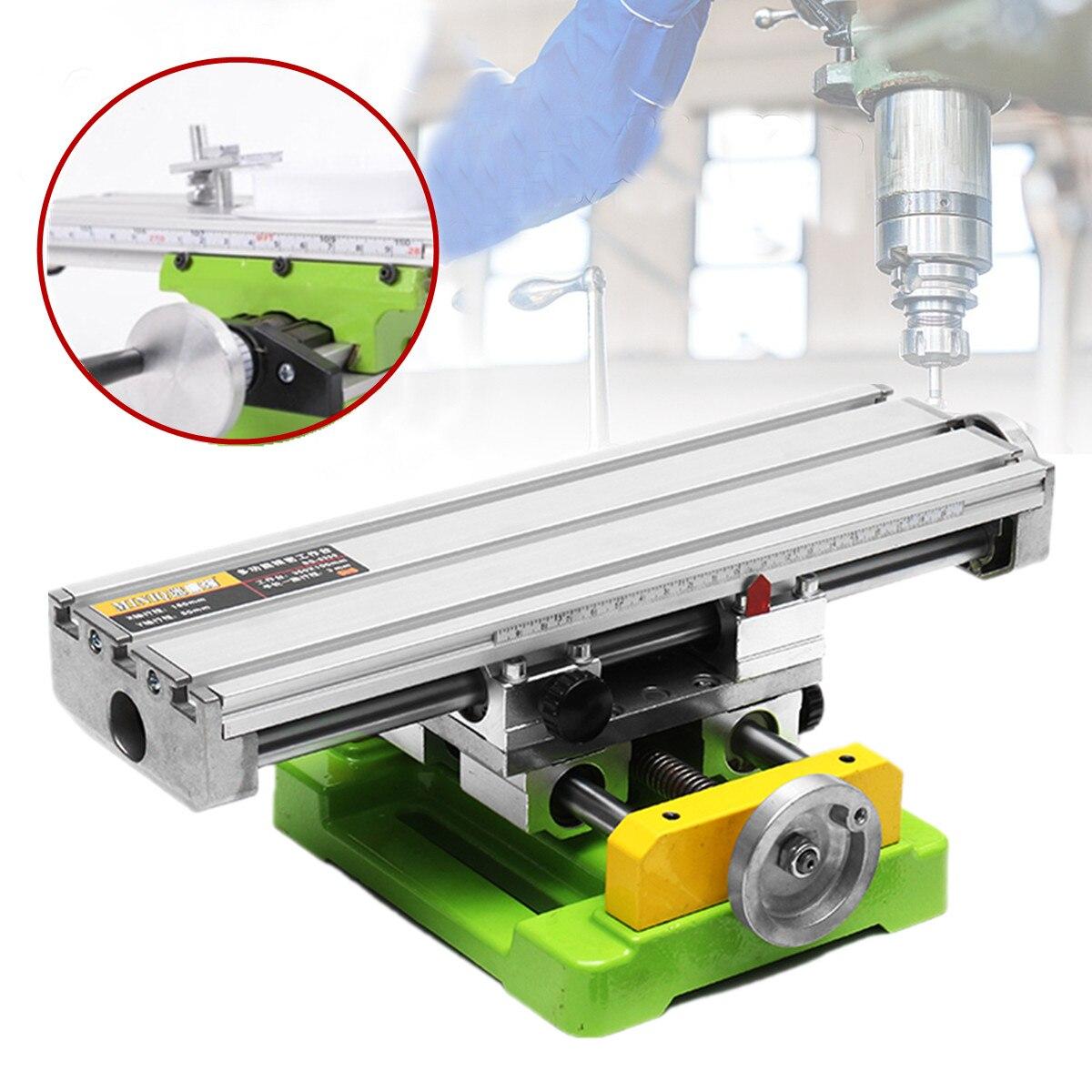 Новый миниатюрный прецизионный многоцелевой фрезерный станок скамья дрель винтовые тиски Рабочий стол X Y регулирование оси Таблица коорди