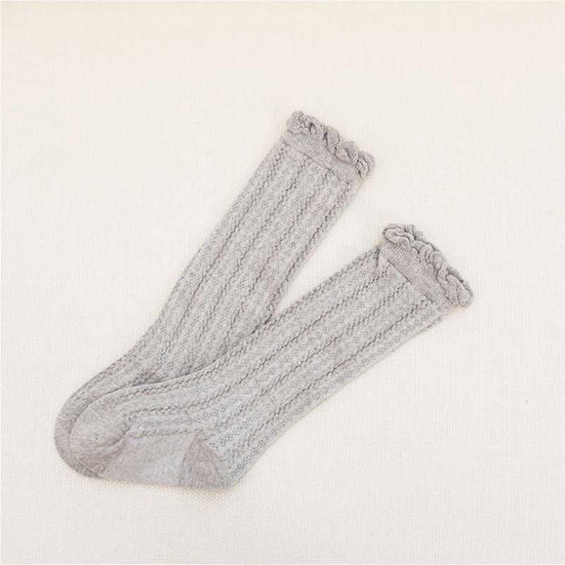 2019 bebé recién nacido para niños y niñas calcetines largos pierna alto rodilla más cálido algodón lindo sólido Casual calcetín nueva venta 0-3T