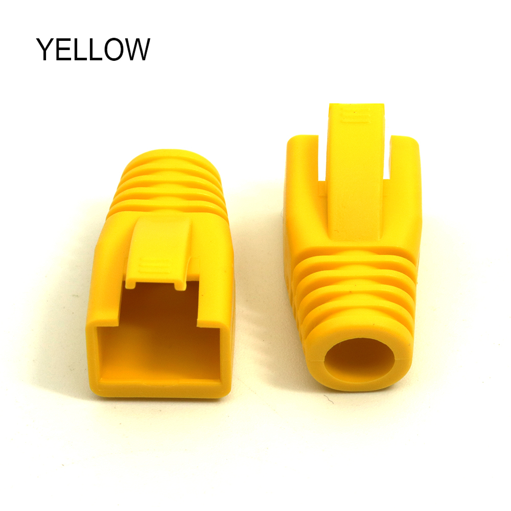 Image 3 - xintylink rj45 ethernet cable connector cover caps cat6 network boots rg 45 sheath cat5 cat5e protection multicolour 50 100pcs-in Computer Cables & Connectors from Computer & Office