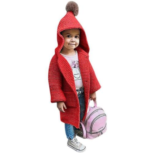 Baby Girls Clothes Warm Sweater Hooded Coat Outerwear Toddler Kids Jackets Clothes