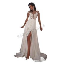 Sleeveless Wedding Dress 2018 Beach Bridal Gown Chiffon