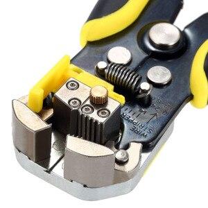 Image 5 - JX1301 أداة تعرية أسلاك الكابلات القاطع المكشكش التلقائي متعددة الوظائف تجريد أدوات العقص كماشة محطة 0.2 6.0 مللي متر أداة اليد