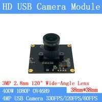 Breite winkel 120 grad Hohe Geschwindigkeit 330FPS/120FPS/60FPS USB Kamera Modul 4MP Volle HD 1080 P webcam UVC Plug Play Fahrer-in Überwachungskameras aus Sicherheit und Schutz bei