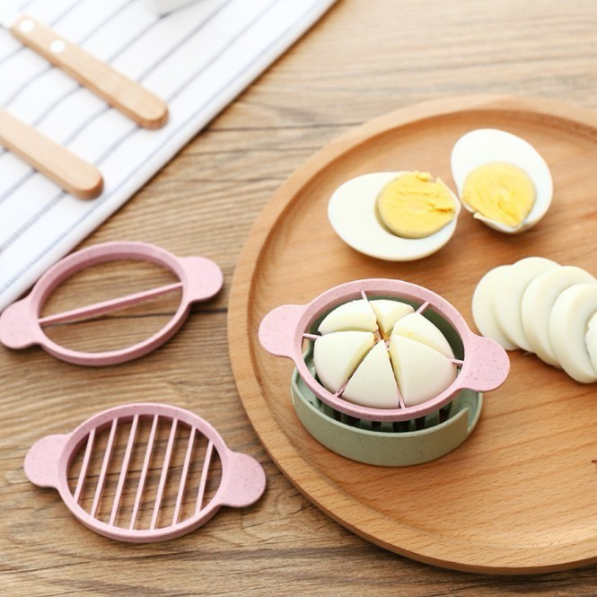 3 In 1 Multifunction Wheat Straw Cut Egg Slicers Boiled Eggs Soft Fruits Splitter Dividers Preserved Chopper Kitchen Tools