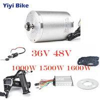 36V 48V Electric Bike Conversion Kit 1000W DC Brushless Motor 12mosfet bldc Controller With LCD Twist Throttle Chain Accessories