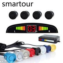 Smartour Авто светодио дный парковка Сенсор с 4 Сенсор s обратный резервный Парковка радар-детектор монитор Системы Подсветка Дисплей
