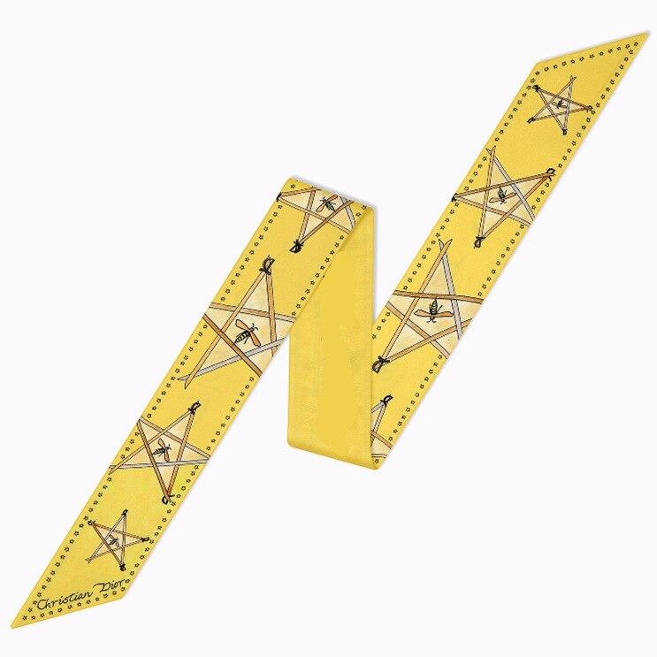 Animal New Style Print Lady Neck Small Tie Bag Ribbons Decoration Silk Kerchief Riband Skinny Scarf Hair Band Bandeaus Choker