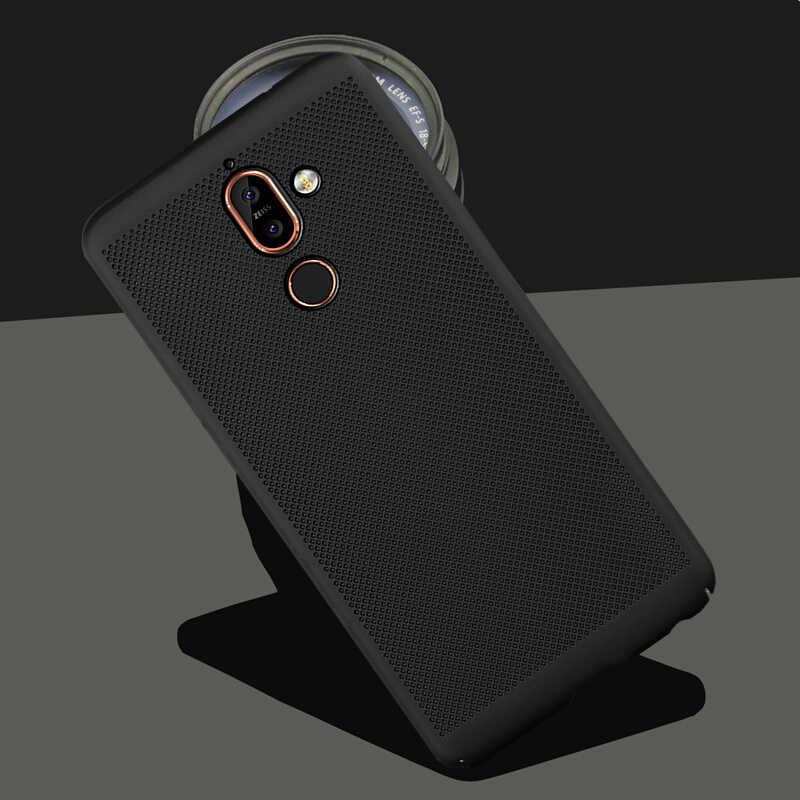 Ốp Lưng Cho Nokia 6 2018 7Plus 3 5 8 2 7 9 1 Tản Nhiệt Làm Mát Tổ Ong Nắp Lưng cho 2.1 3.1 5.1X6 6.1 Plus Phụ Kiện