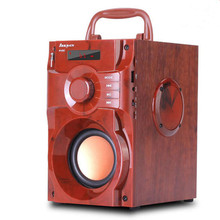 New wooden wireless bluetooth speaker outdoor home heavy subwoofer card mini portable