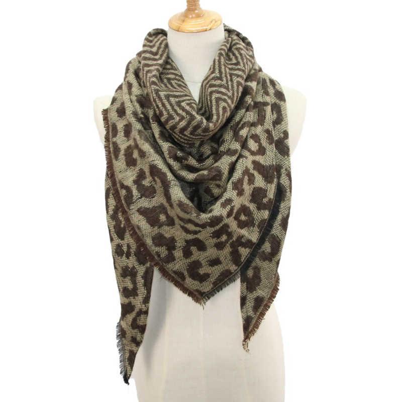 URDIAMOND дизайн зимний шарф женский Леопардовый шаль с принтом Хлопок Женский для дам кашемировый шарф Модный высококачественный