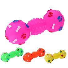 1 шт. Домашний питомец собака игрушка пищалки звуковые игрушки для собак щенков в форме кости игральные шары домашние жевательные игрушки собака наружные товары