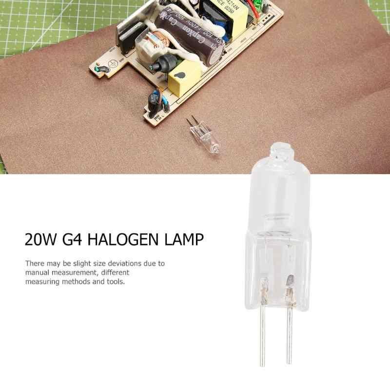 1 шт. G4 галогенная лампа 12 В теплый белый 360 луч JC прозрачная галогеновая лампа 20 Вт прозрачная каждая лампа