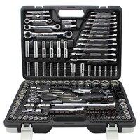 150 шт. Professional Auto Repair набор инструментов комбинации посылка крестом пакет разъем гаечные ключи с наиболее полезные механические инструменты