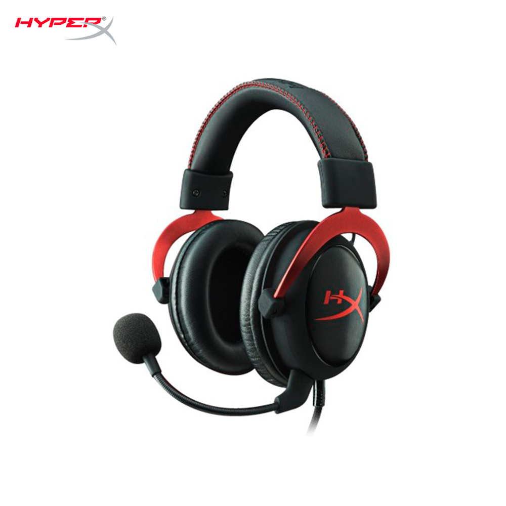Earphones & Headphones HyperX Cloud II Red KHX-HSCP-RD computer wired headset gaming CS:GO esports gaming headset wireless headphones bluetooth earphone edifier g4 headphone earbuds earphones with microphone red and green color