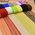 Venta al por mayor hermosa 10 yardas cinta de encaje de 45 MM de ancho tela africana de encaje blanco encaje bordado encaje adornos para de coser