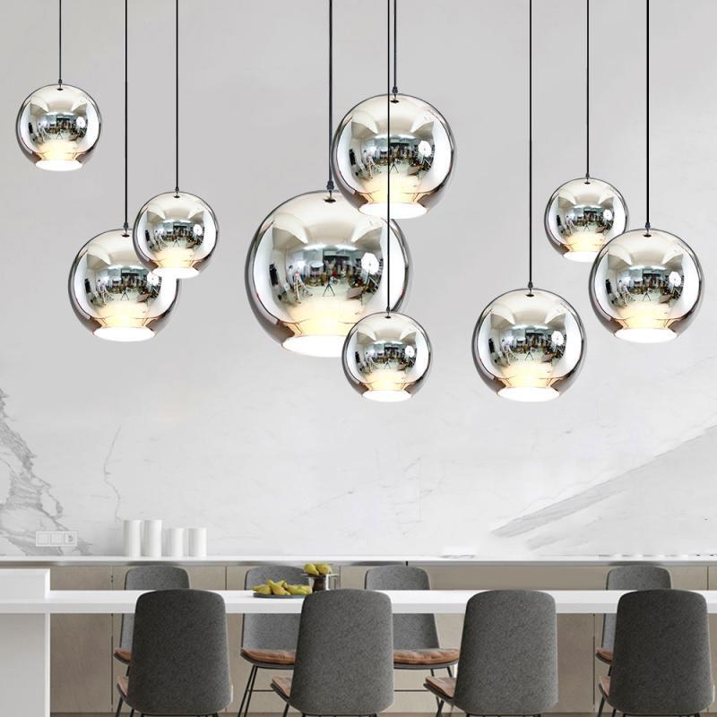 Nordic LED Pendant Lights Glass Pendant Lamps Loft Industrial Hanging Lamps Smoky Grey Lamparas De Techo Colgante Modern Lustre in Pendant Lights from Lights Lighting