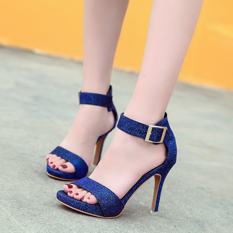 Morima Snc 2019 New Open Toe Bling Bling Blue Gem Silver High Heels Lady Fashion Concise Open Toe Pumps Dating Woman SandalsMorima Snc 2019 New Open Toe Bling Bling Blue Gem Silver High Heels Lady Fashion Concise Open Toe Pumps Dating Woman Sandals