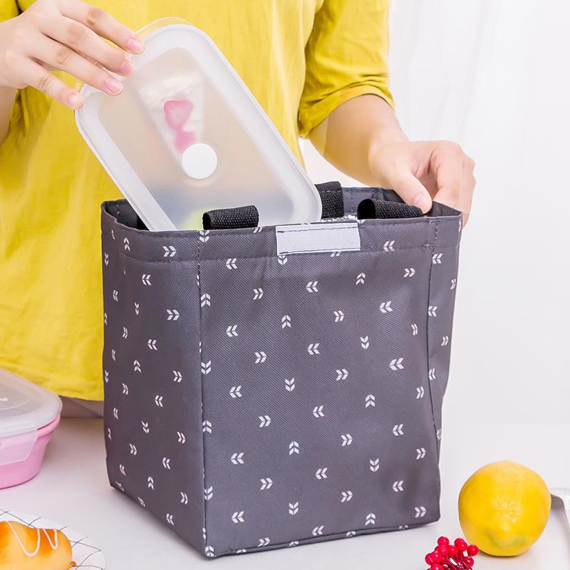 Hot Waterproof Oxford Fabric Picnic Lunch Bags For Kids Children Insulation Multi-Functions Thermal Food Bags Totes