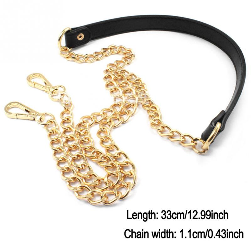 Bag Chain Replacement Metal+PU Leather Strap For DIY Handbag Shoulder Bag 120cm