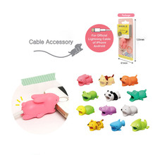 купить 1Pcs Bite Animal Cable Protector Kawaii Cable Bite Animal Dog For Phone Winder Dog Bite Phone Accessories Children Prank Toy дешево
