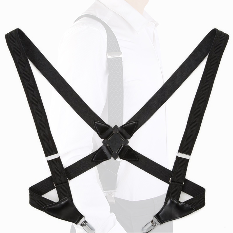 Retro 2 Clip Elastic Suspenders For Pants Groom Holster Strap Clip Side Clip Men Women Harness Brace Suspender Adult