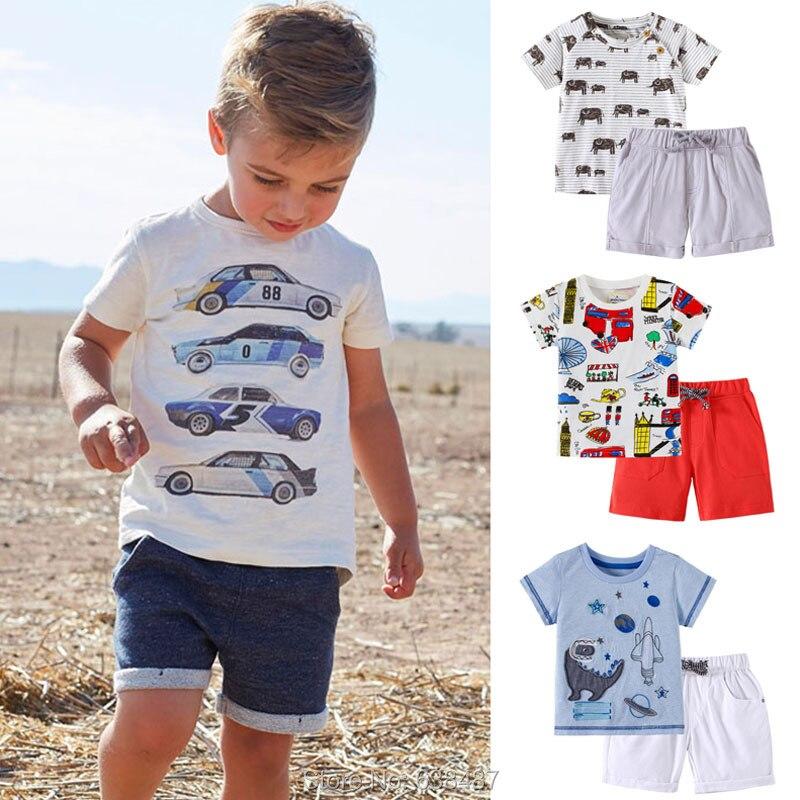 Little Boys Shorts Set Toddler Boys 100/% Cotton Summer Short Sleeve T-Shirts and Shorts Clothing Sets 2PCS