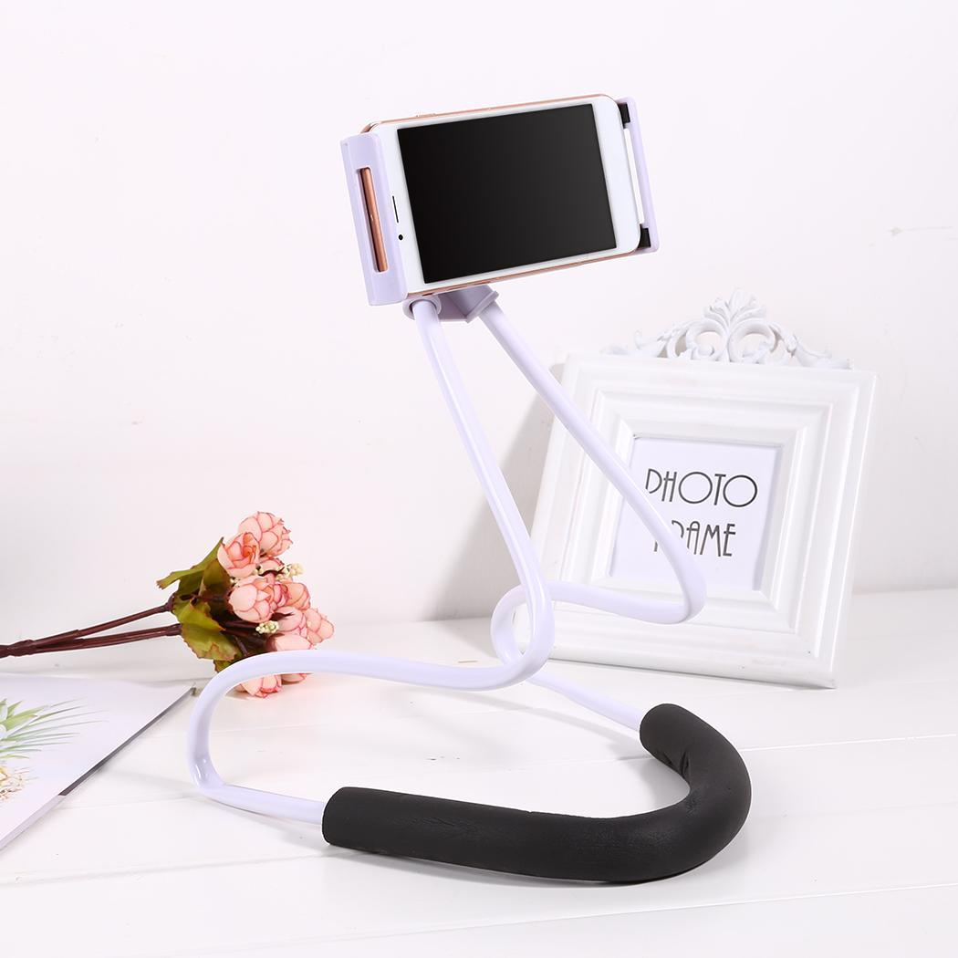 360 Degree Rotation Mobile Stand Hanging Neck Mobile Phone 60cm23.6inch Holder Universal
