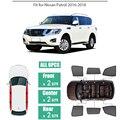 Боковые окна магнитный Солнцезащитный УФ-защита луч Блокировка сетка козырек подходит для Nissan Patrol 2016-2018