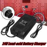 24V 2A Lead-acid Battery Charger Electric Scooter Ebike Charger 3-prong Inline Suitable For Bicycle-modified Electric Vehicles
