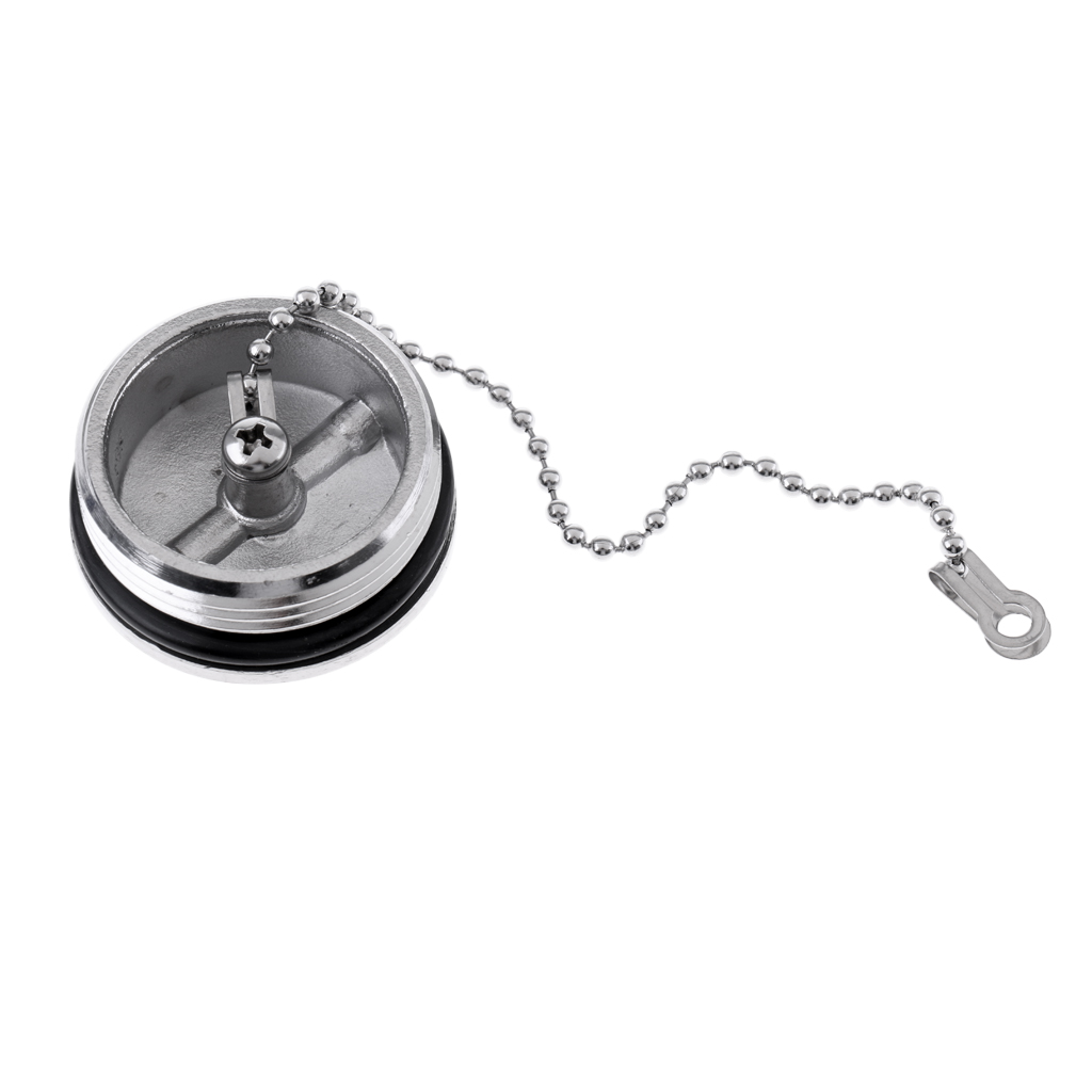 Boat Marine Hardware 316 Stainless Steel Deck Fill Replacement Cap and Chain Boat Parts Accessories in Marine Hardware from Automobiles Motorcycles