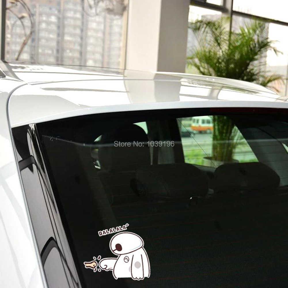 Nowa stylizacja śliczny piękny duży bohater 6 Baymax z Balalala kreatywny odblaskowy samochód całe ciało Trunk naklejki kalkomania wodoodporny winyl