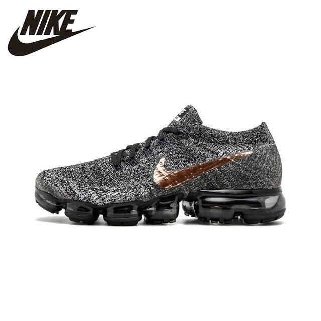 b12ea82a098b Nike AIR VAPORMAX FLYKNIT Breathable Men s Original Running Shoes Dark Grey  Non-slip Outdoor Sports Sneakers  849558-010