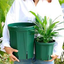 4 Size Round Plastic Plant Flower Pots Succulent Plant Flowerpot For Home Office Decoration Garden Supplies Desktop Planter