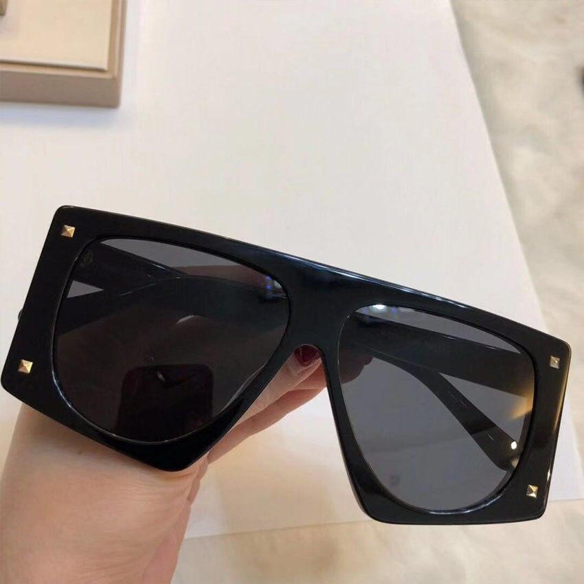 Designer gray Gradienten Weibliche Objektiv Uv400 Grey black Mode Klassische Marke Blue Sonnenbrille light Shades Luxus Rahmen Rechteck 2019 pink Brillen yellow Großen Frauen Niet CwqHXn8