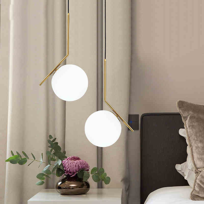 Modern Ceiling Lamp Pendant Lights Glass Ball Indoor Lighting Restaurant Living Room Modern Decoration Lighting LED E27 220V NewModern Ceiling Lamp Pendant Lights Glass Ball Indoor Lighting Restaurant Living Room Modern Decoration Lighting LED E27 220V New
