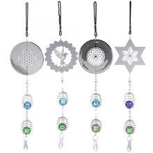 Милая металлическая музыкальная кристальная спираль-колокольчик для украшения дома или магазина