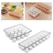 egg box Kitchen Egg Storage Box home Organizer Refrigerator egg Crisper Container Egg Racks food storage tray
