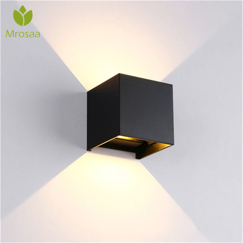 IP65 Waterproof 12W Cube Adjustable Surface Mounted Led Lighting Indoor Outdoor Wall Light up down led wall lampIP65 Waterproof 12W Cube Adjustable Surface Mounted Led Lighting Indoor Outdoor Wall Light up down led wall lamp